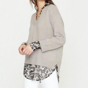Brochu Walker The Looker Leopard Layered Sweater
